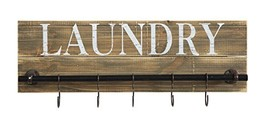 Creative Co-op Pine Wood Laundry Wall Décor with Metal Bar & 5 Hooks - $61.45