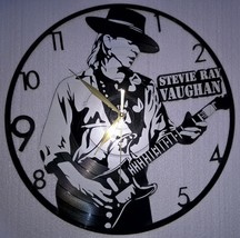VINYL PLANET Wall Clock  STEVIE RAY VAUGHAN Home Record Unique Decor upc... - $33.50