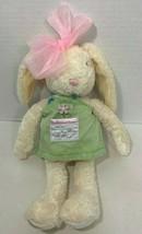 Hallmark Easter Bunny Rabbit Plush Ginger Sweets cream green apron pink bow - $7.91