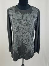 Shamu women 2XL long sleeve pull on blouse embellishment - $7.92
