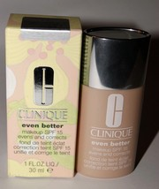 CLINIQUE Foundation 32 Pecan Even Better Evens & Correct Makeup NIB - $14.35