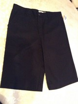 Old Navy shorts uniform Size 16 Regular flat front black New boys - $13.99