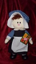 Sugar Loaf Thanksgiving Pilgrim Girl Plush Doll ACMI Sugarloaf Creations - $8.80