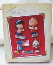 Hallmark Keepsake Peanuts Gang The Peanuts Games 2004 Ornament Set of 4 - $24.70