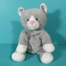 Ty Pluffies Pursley Kitty Cat Gray White Plush Stuffed Animal Baby Lovey... - $39.95