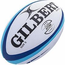 Gilbert Atom Rugby Match Ball, Blue, Size 5 image 1