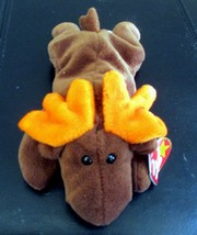 Ty Beanie Baby Chocolate The Moose 1993 5th Generation Hang Tag CREASED - $4.94