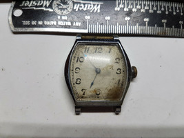 WALTHAM TRENCH 15 JEWEL  BARREL VINTAGE  WATCH FOR YOU TO FIX BALANCE OR... - $120.94