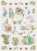 Counted cross Stitch Pattern beatrix potter characters 186x265 stitches ... - $3.99