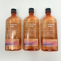 Set Of 3 Bath and Body works Sunrise Yoga Aromatherapy Body Wash Foam Ba... - $44.55