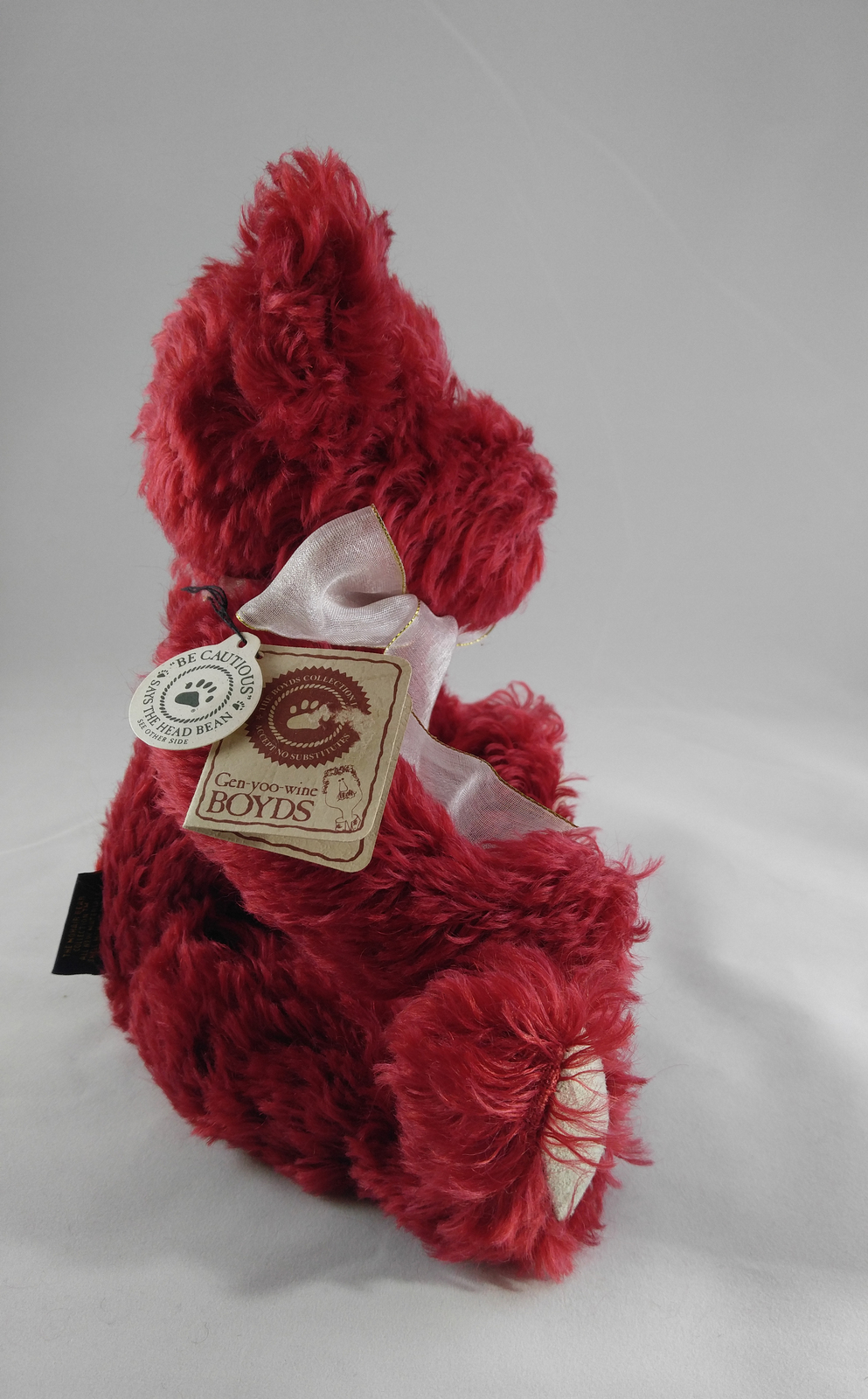 "Boyd's Bears ""Scarlett Bearington"" Handmade Jointed Red Mohair Teddy 590043-02"