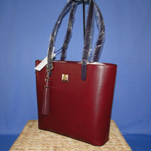 Dooney & Bourke Hadley Tote Tassel Cranberry Color - $189.00