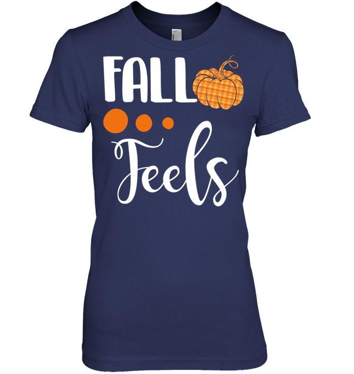 Fall feels Tshirt cute flannel pumpkin autumn Tshirt