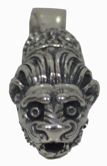 Lion Head Silver Pendant