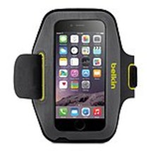 Belkin Sport-Fit Carrying Case (Armband) for iPhone 6 - Blacktop, Limeli... - $28.78