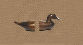 Vintage Carved Duck Bookends - $69.95