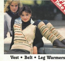 Remember Yarn Project Sheet to KNIT Vest Belt & LEG WARMERS Vintage Pattern - $4.99