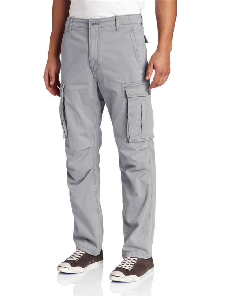 NEW NWT LEVI'S STRAUSS MEN'S ORIGINAL RELAXED FIT CARGO I PANTS GRAY 124620016