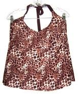 Merona Animal Print Halter Tankini Top Leopard Cheetah Top Plus Size 22W... - $26.99