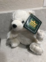 "Plush White Polar Bear Wild Republic Stuffed Animal Bear 7"" A10EY - $10.95"