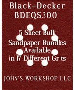 Black+Decker BDEQS300 - 1/4 Sheet - 17 Grits - No-Slip - 5 Sandpaper Bul... - $7.14