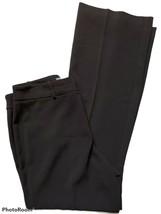 Ann Taylor Audrey Dress Pants Womens Size 8 Black Straight Leg High Rise... - $16.82
