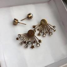 SALE* NEW AUTH Christian Dior 2019 CD DIORAINBOW CRYSTAL LOGO STAR Earrings image 10