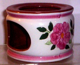 STANGL WILD ROSE CANDLE CHINA WARMER - $24.95