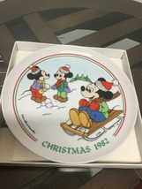 Schmid Walt Disney Characters Mickey 1982 Christmas Collector Plate Excellent Co - $19.79