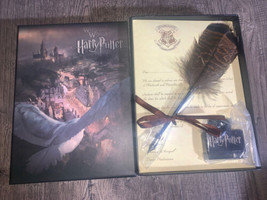 Quill Brown Feather Calligraphy Dip Pen and Ink Set  Hogwarts! Harry Pot... - $30.00