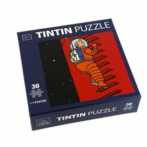 Tintin Explorers on the moon  climbing 30 pieces puzzle children sealed