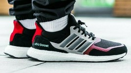 ADIDAS ULTRABOOST 1.0 S&L BLACK/GREY/RED SIZE 11 BRAND NEW WITH BOX (EF0... - $124.55