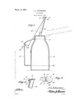 Oil Holder Patent Print - White - $7.95+
