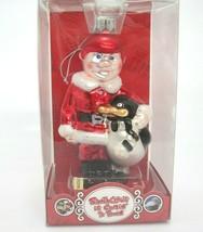Santa Claus Comin to Town Glass Ornament Young Kris Kringle & Topper Pen... - $14.84
