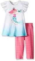 Mud Pie Baby Girls Mermaid Flutter Sleeve Tunic and Capri 2 Piece Playwe... - $40.27