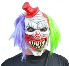 Evil Halloween Clown Mask Costume Party Mask with Hair Killer Psycho the Clown image 4
