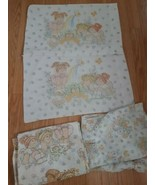 Vintage Cabbage Patch Doll Sheet Set Fitted Flated and 2 Pillow Cases 19... - $49.45