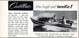 1957 Print Ad Cadillac Light Aluminum Boats Made in Cadillac,MI - $9.22