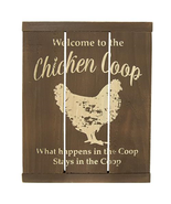Welcome to the Chicken Coop Slat Sign - $29.99