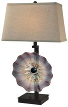 Table Lamp DALE TIFFANY IMPASTO 2-Light Dark Bronze Metal - $390.00