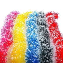 2 Meter Tinsel Drop 5 Colors For Christmas Tree Hanging Decoration Ornam... - $4.99