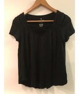 American Eagle Outfitters Womens Top Soft Sexy T Shirt V Neck Black Size XS - $12.95