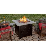 Blue Rhino Fire Table 30 In Endless Summer Square LP Gas with Faux Stone Hearth - $289.00