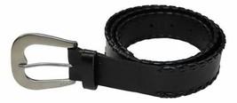 Lauren Ralph Lauren Whipstitched Belt (Black/Silver, XL) - $49.90