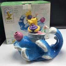 WINNIE THE POOH TEAPOT TREASURECRAFT nib box piglet tidal wave figurine ... - $74.25