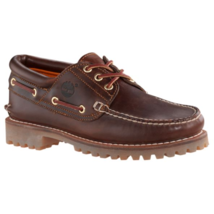 TIMBERLAND 6500A TFO CLASSIC 3 EYE LUG MEN'S BROWN LEATHER BOAT SHOES  - $120.37 CAD
