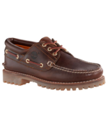 TIMBERLAND 6500A TFO CLASSIC 3 EYE LUG MEN'S BROWN LEATHER BOAT SHOES  - $89.99