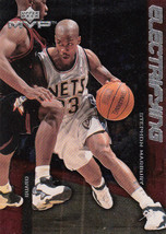 1999-00 UPPER DECK MVP ELECTRIFYING BASKETBALL CARD E9 STEPHON MARBURY NETS - $0.94