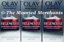 (3) Olay Regenerist Micro Sculpting Cream 0.5 oz each Free US Ship 2/202... - $16.97