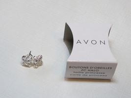 Ladies Womens Avon Halo CZ Stud Earrings Princess Cut F3879041 NIP;; - $29.69